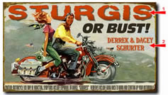 Sturgis Vintage Motorcycle  Sign