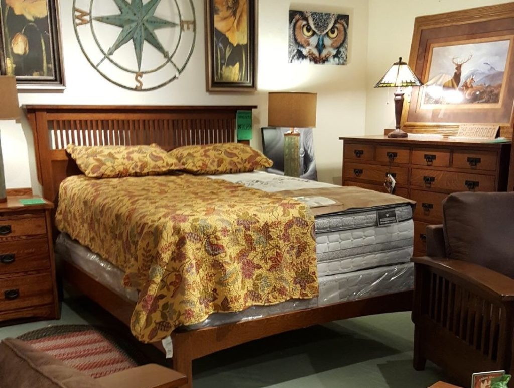 Amish Mission Bed, Dresser and Nightstand