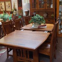Amish Table, chairs, Hutch and Buffet