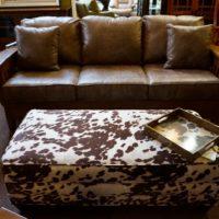 Mission Sofa and Storage Ottoman