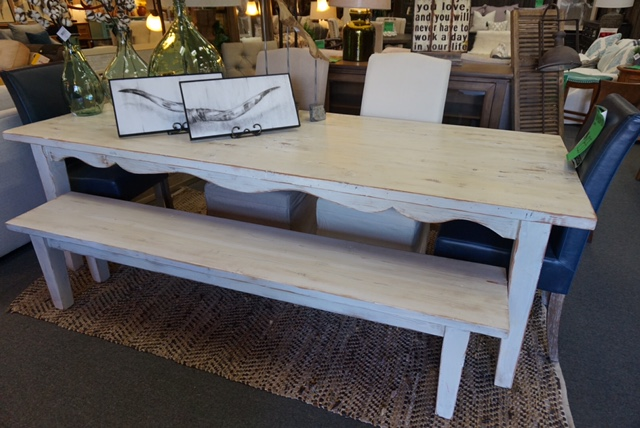 Reclaimed Wood Dining Table and Bench Custom sizes and finishes available