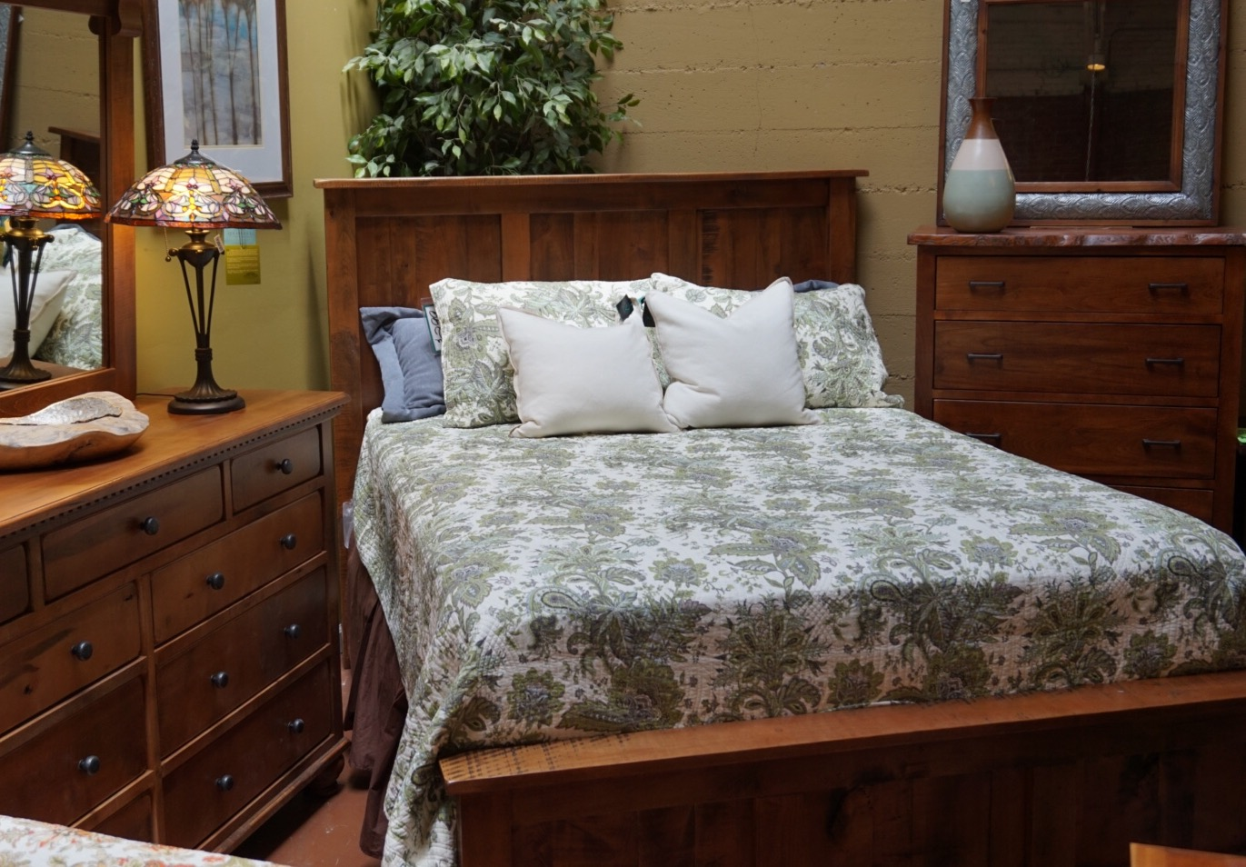 Rustic Maple Bed and Dresser