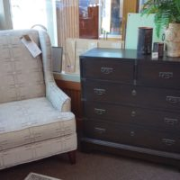 Wingback Chair and Entrance Cabinet