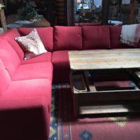 American Leather Sleeper Sofa & Lift-Top Coffee Table