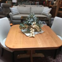 Natural Cherry Pedestal Table