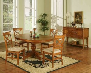 Pedestal Table and matching Sideboard
