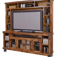 84 inch Industrial Console and Hutch