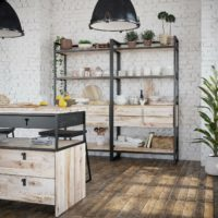 Industrial -Island and Shelving