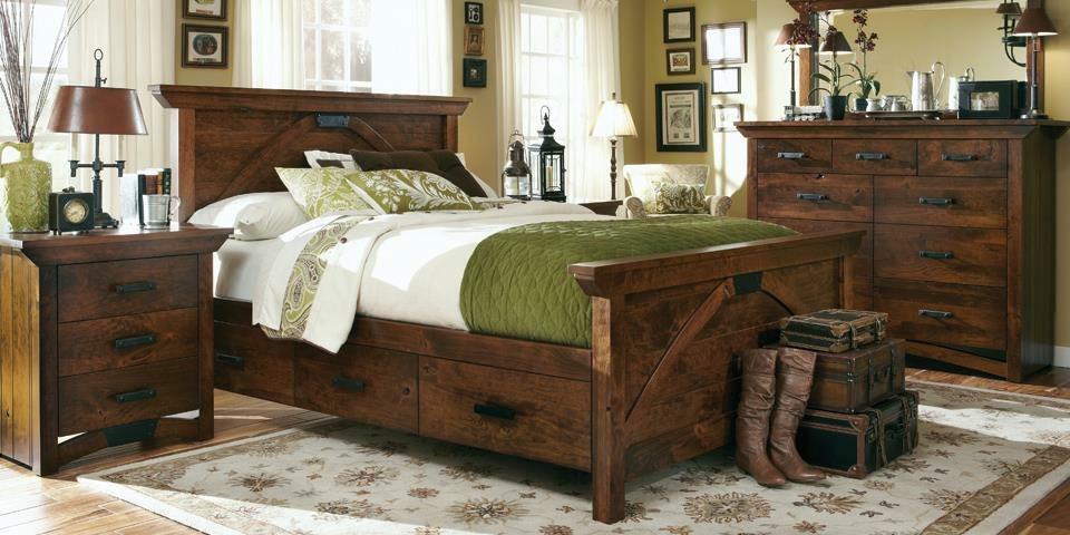 Rustic Amish Bedroom