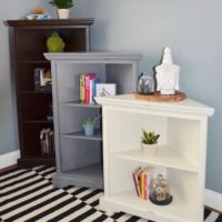 Corner Book Cases -Available in many sizes and finishes
