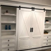 Entertainment Center with barn doors
