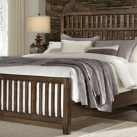 Craftsman Slat Bed in Oak or Cherry