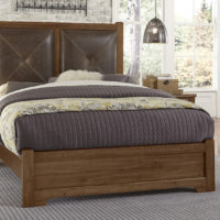 Leather and Maple Bed